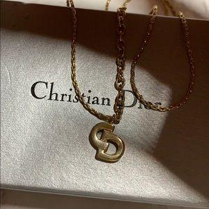 Vintage Christian Dior gold tone necklace